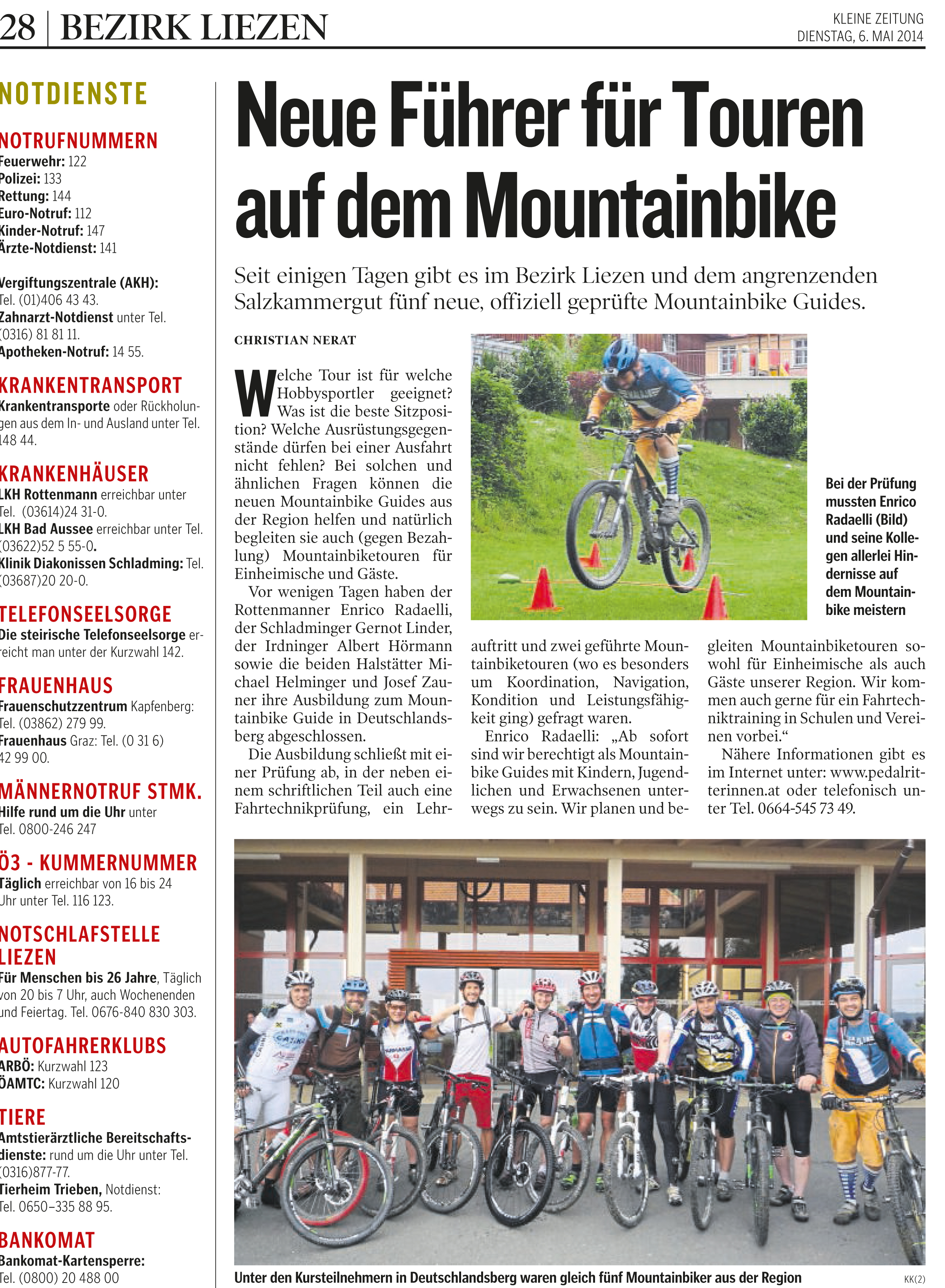Mountainbikeguide Pedalritterinnen Guide Radaelli Mountainbike Kleine Zeitung Steiermark